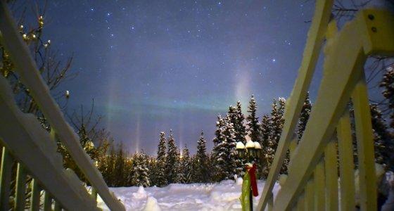 Northern Lights, From Courtyard, Hidden Valley B&B, 560px
