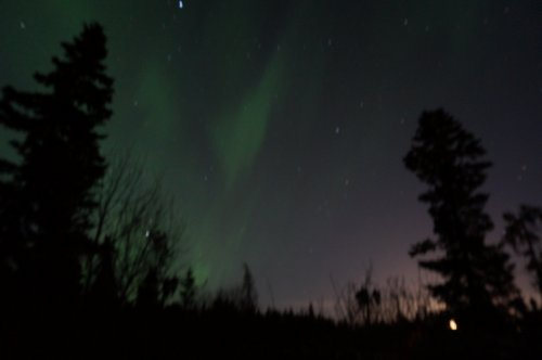 Spring Northern Lights in Whitehorse
