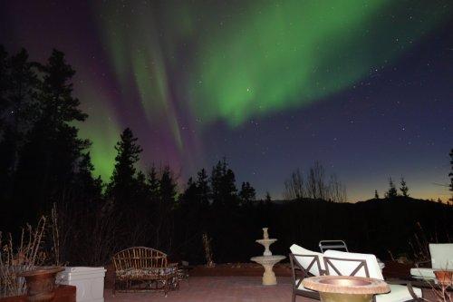 Northern Lights from Deck of Hidden Valley B&B