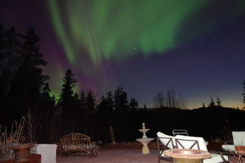 Northern Lights in Whitehorse, Yukon, May 2014