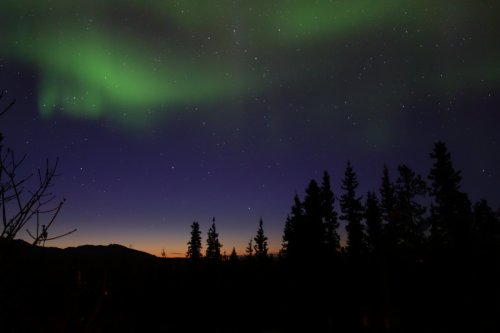 Sunset and Northern Lights in Whitehorse