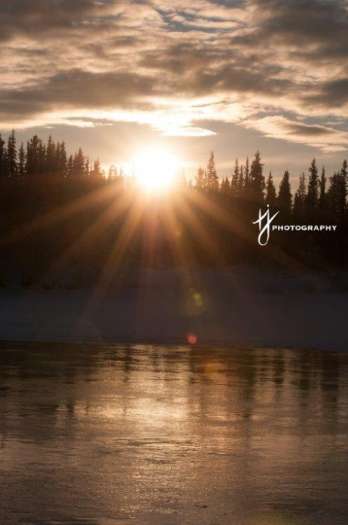 Sunset in the Fall on the Yukon River