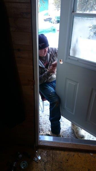 Installing the new door