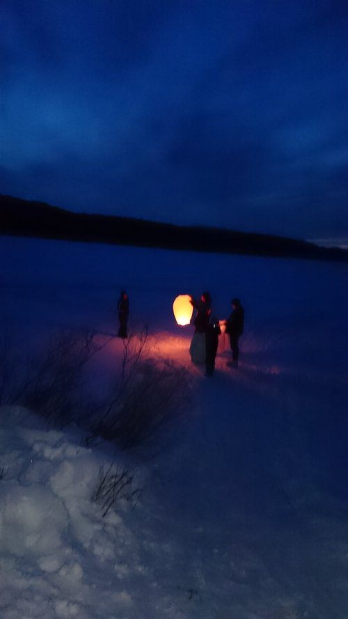Chinese lanterns released