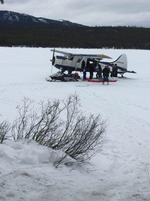 Plane on skis in the Yukon