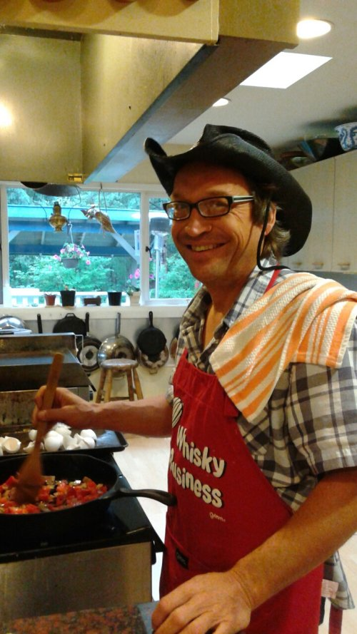 guest chef scott at Whitehorse B&B