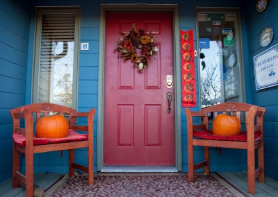Front Door in Fall Hidden-Valley-BB-1600px