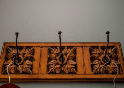 Ornate coat hooks at Hidden-Valley-BB-1600px