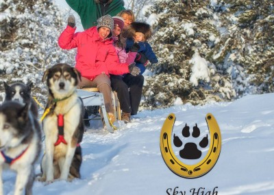 dog sledding at Sky High Wilderness Ranch, Whitehorse