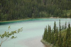 Emerald Lake, on South Klondike Highway, Yukon