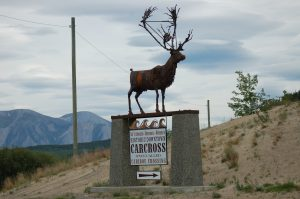 Road Sign for Carcross, Yukon