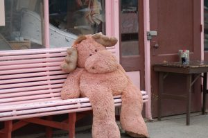 Giant Moose Teddy at Carcross, Yukon