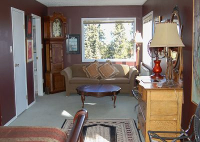 cappuccino suite, long view of the room from the south window, hidden valley bb, yukon