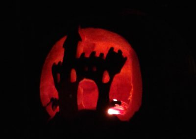 Haunted House Pumpkin, Hidden Valley B&B, Whitehorse, Yukon