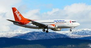 Revised livery launched 2014 on Air North's newest Boeing 737-500 series