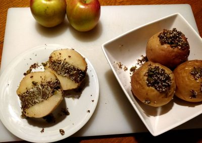 Baked Apples, Breakfast Starter, Hidden Valley Bed and Breakfast, Yukon