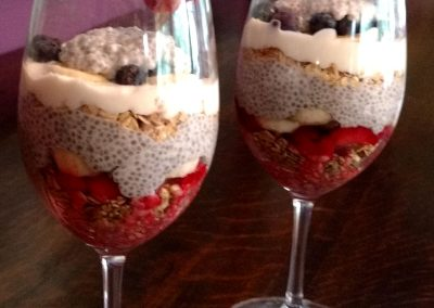 Chia Pudding Parfait, Breakfast Starter, Hidden Valley Bed and Breakfast, Whitehorse