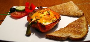 Stuffed Breakfast Pepper, Hidden Valley Bed and Breakfast, Yukon