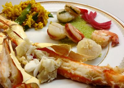 King Crab Dinner. Hidden Valley Bed and Breakfast. Whitehorse Accommodation. Yukon.
