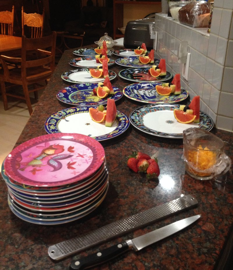 Fruit side for 10 guests at Hidden Valley B&B