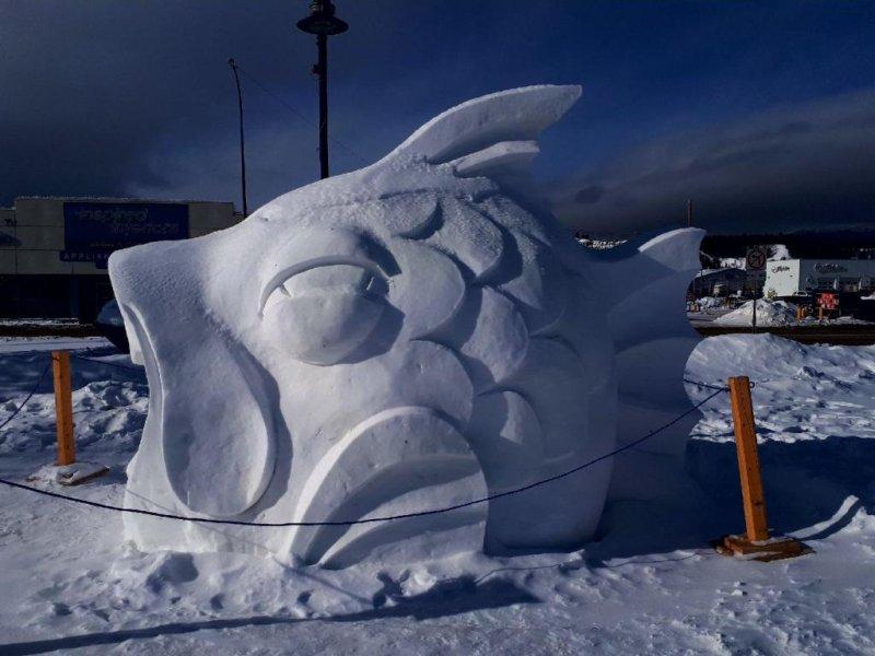 Sourdough Rendezvous 2018 - Ice Sculpture - Fish