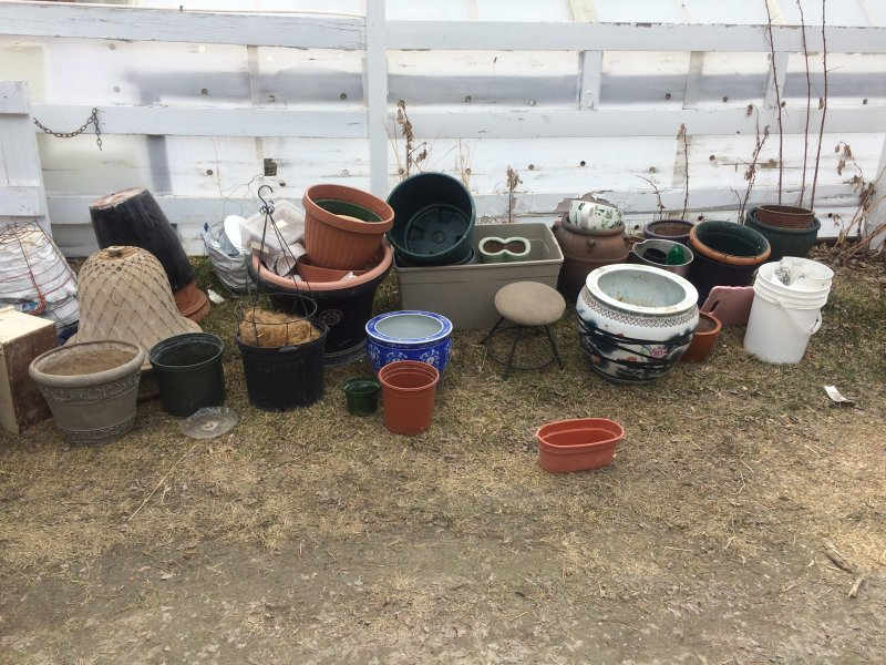 Planter pots ready to be used