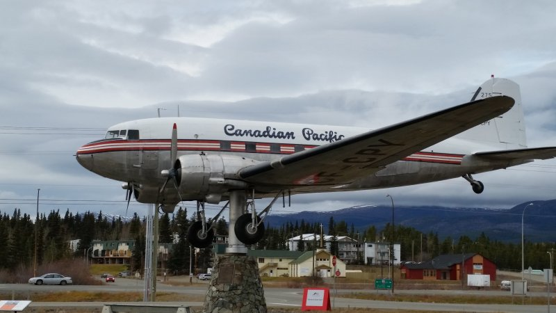 Canadian Pacific DC3 at Whitehorse Airport