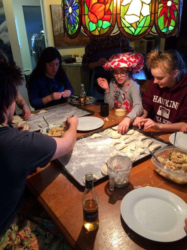 Making Pierogi Meal at Hidden Valley B&B