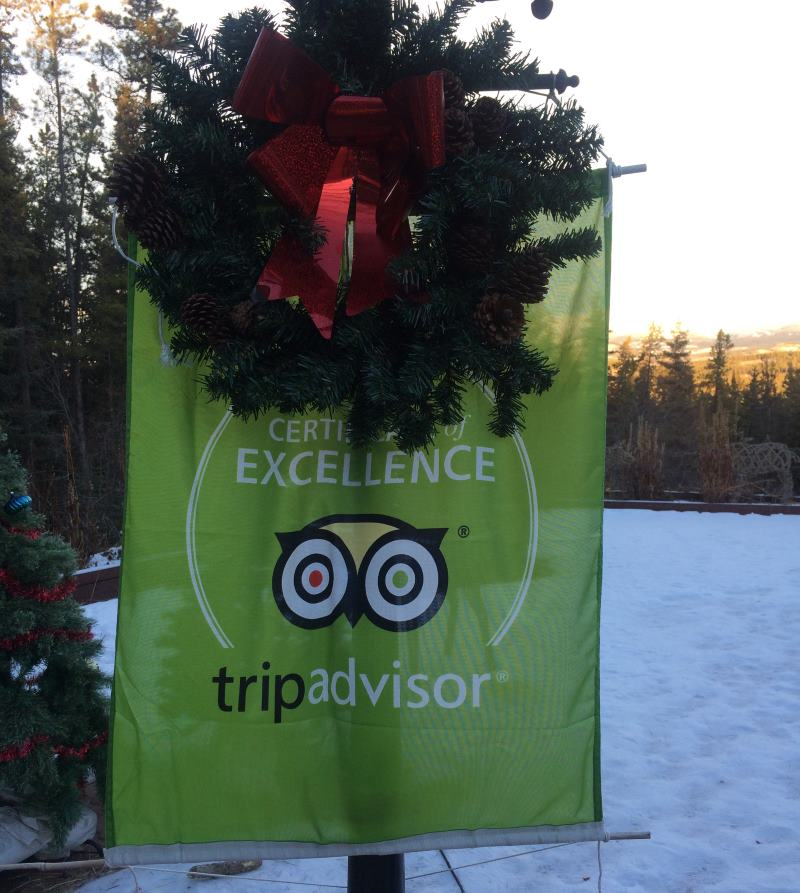 Trip Advisor Award of Excellence - Hidden Valley B&B