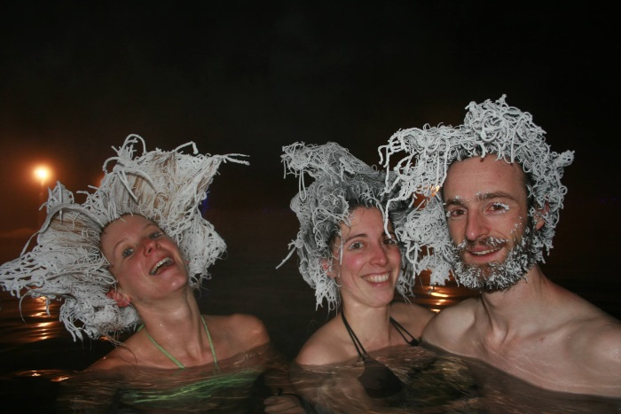 Past Hair Freeze Event - at Takhini Hot Pools